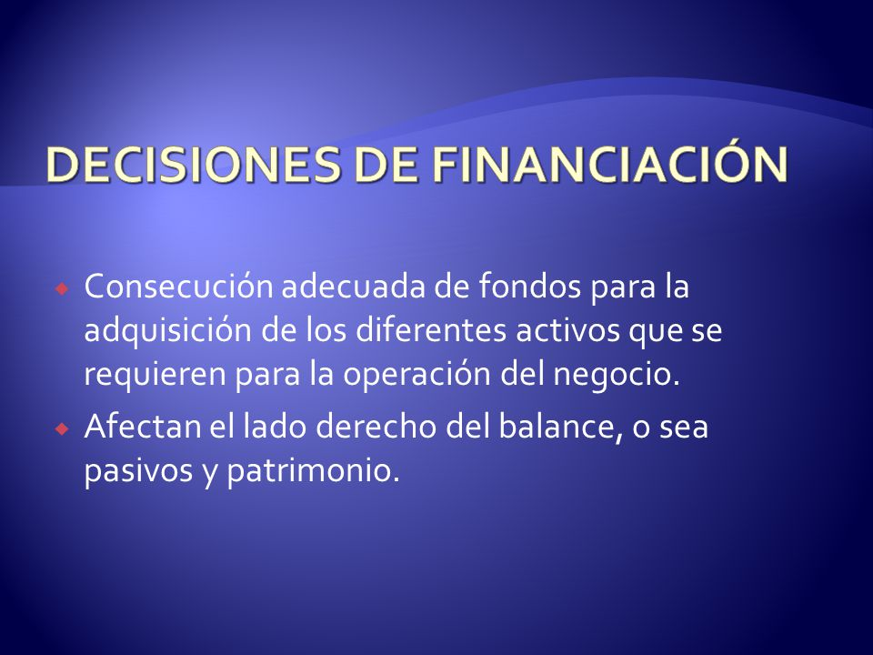 DECISIONES DE FINANCIACIÓN