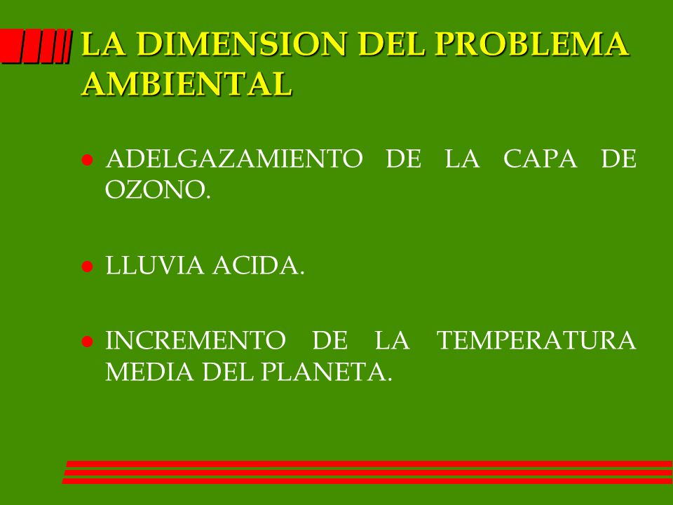 LA DIMENSION DEL PROBLEMA AMBIENTAL
