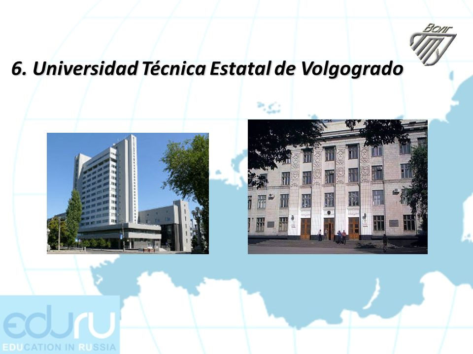 6. Universidad Técnica Estatal de Volgogrado