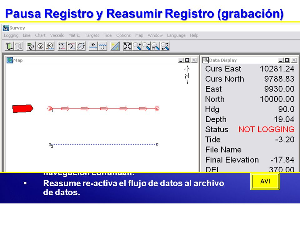 Pausa Registro y Reasumir Registro (grabación)