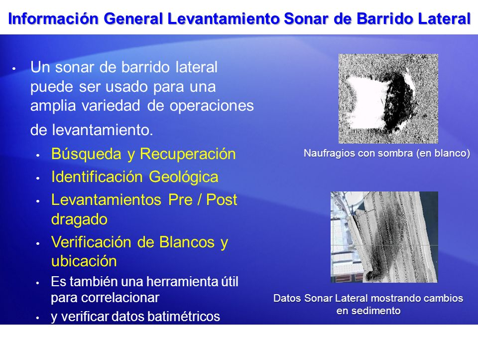 Información General Levantamiento Sonar de Barrido Lateral