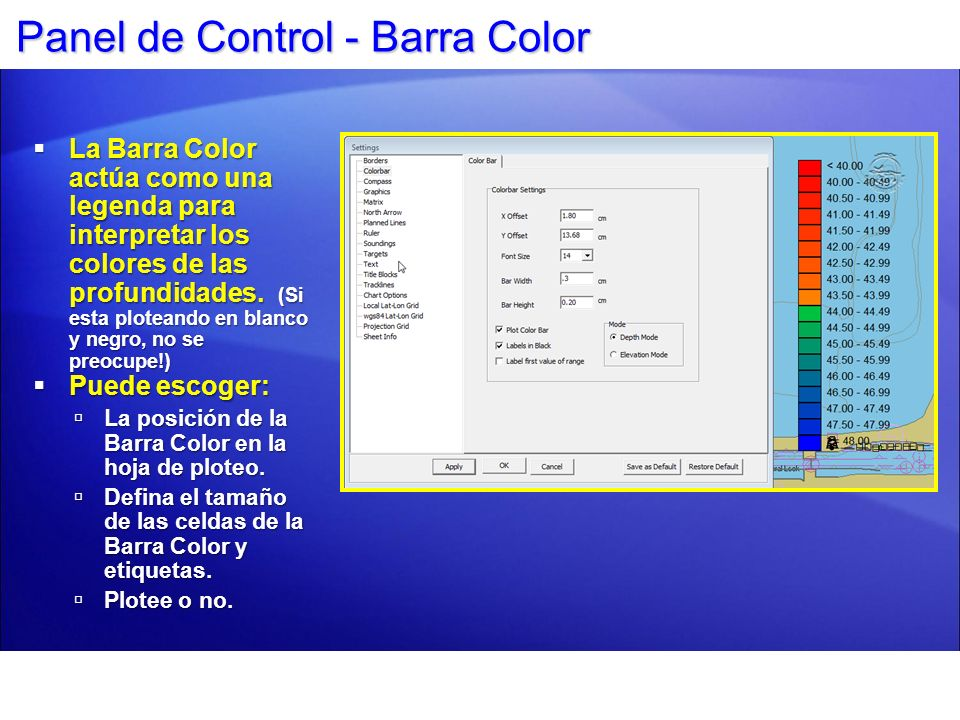 Panel de Control - Barra Color