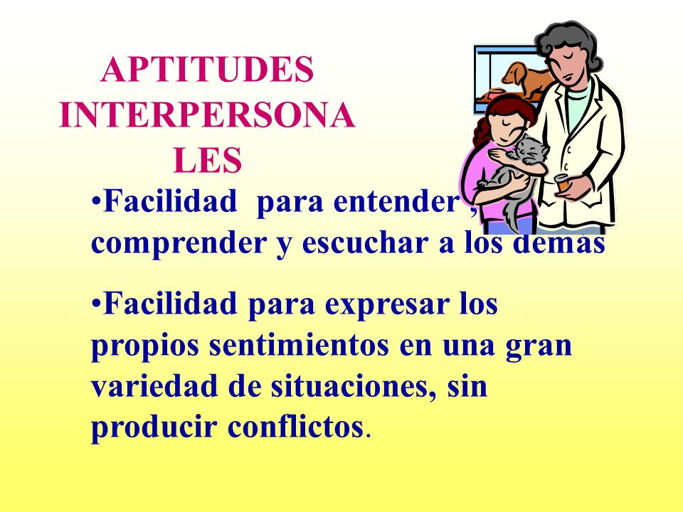 APTITUDES INTERPERSONALES