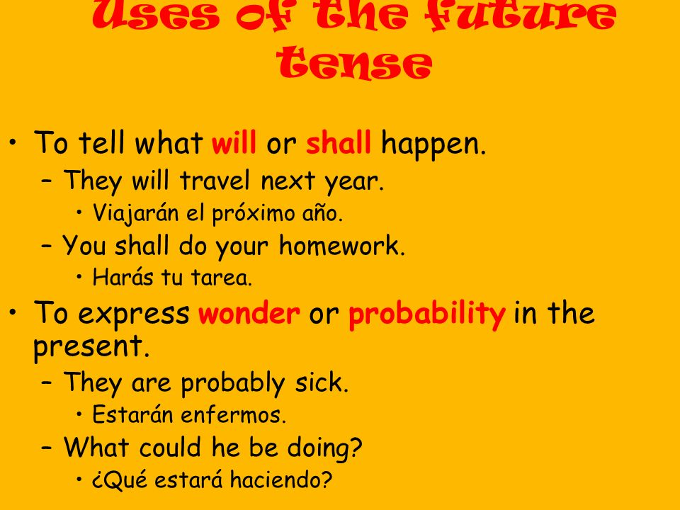 Uses of the future tense