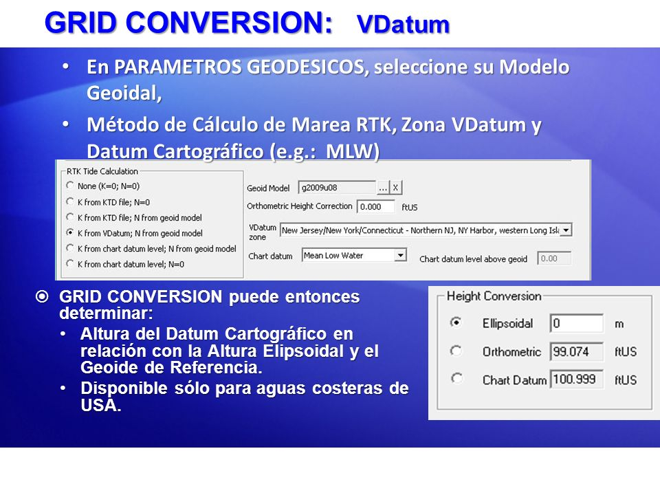 GRID CONVERSION: VDatum