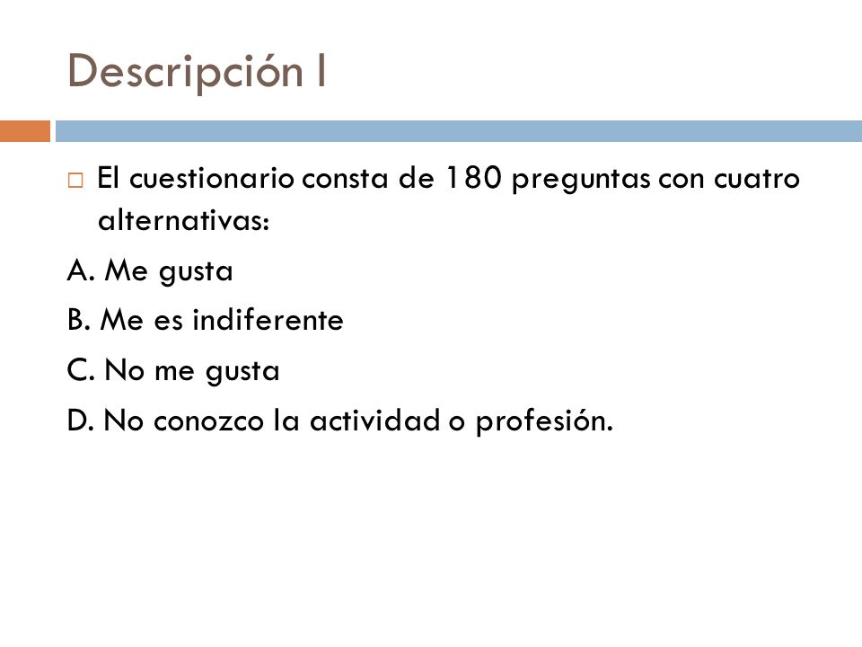 test ipp intereses y preferencias profesionales