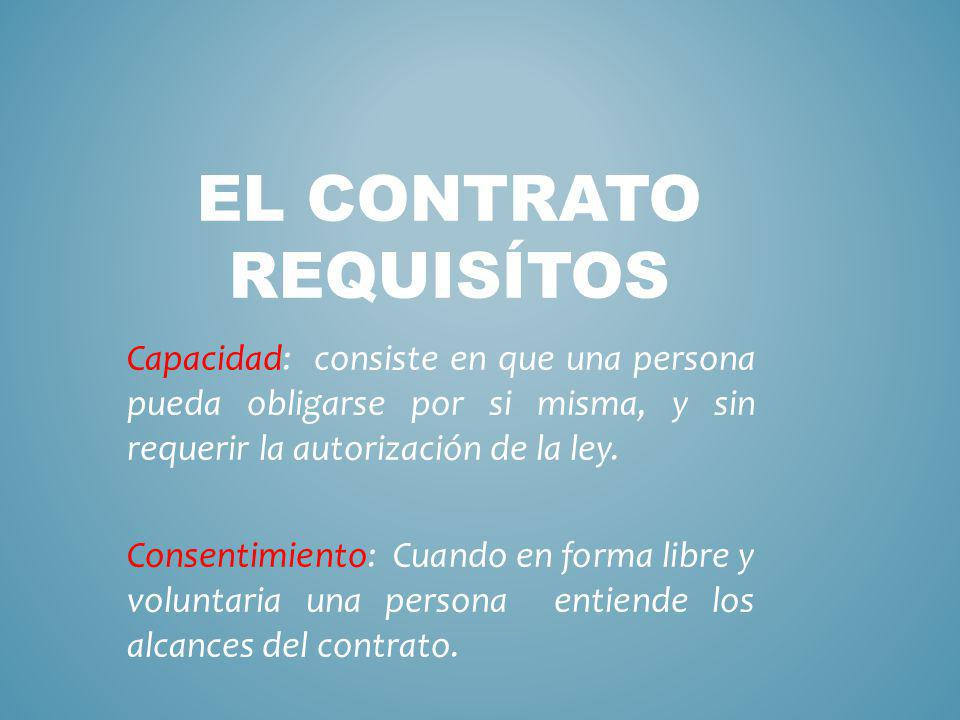 El contrato rEquisítos