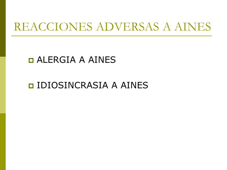 REACCIONES ADVERSAS A AINES