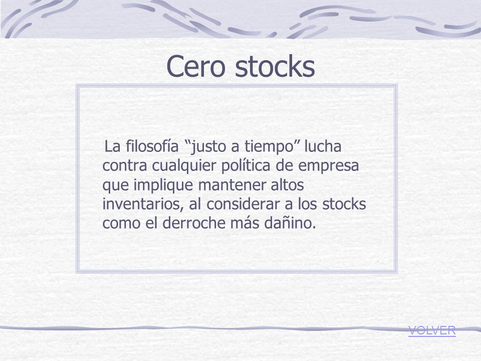Cero stocks