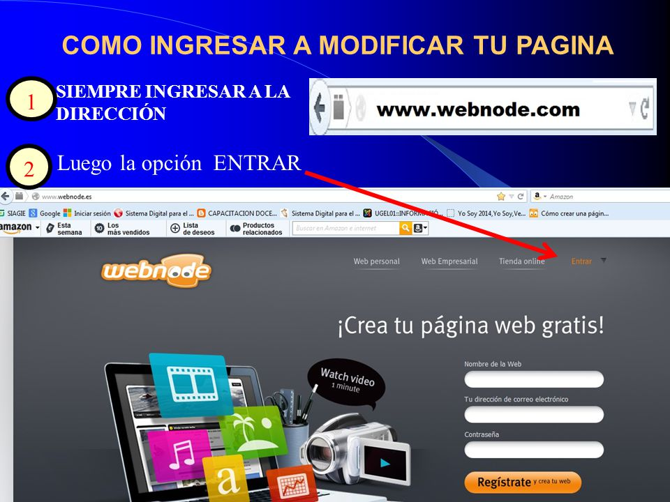 COMO INGRESAR A MODIFICAR TU PAGINA