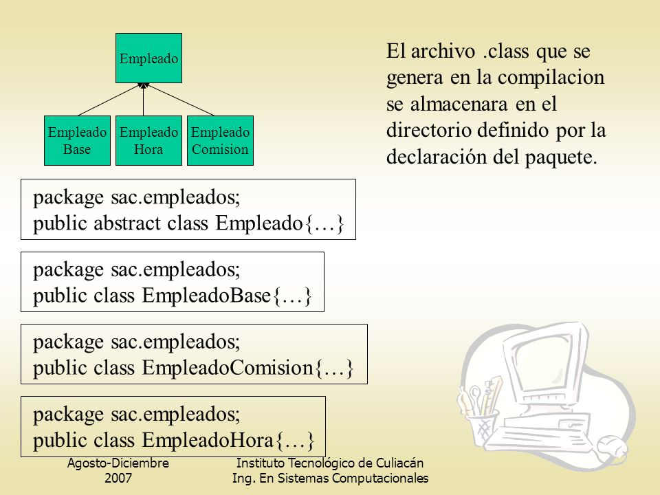 package sac.empleados; public abstract class Empleado{…}