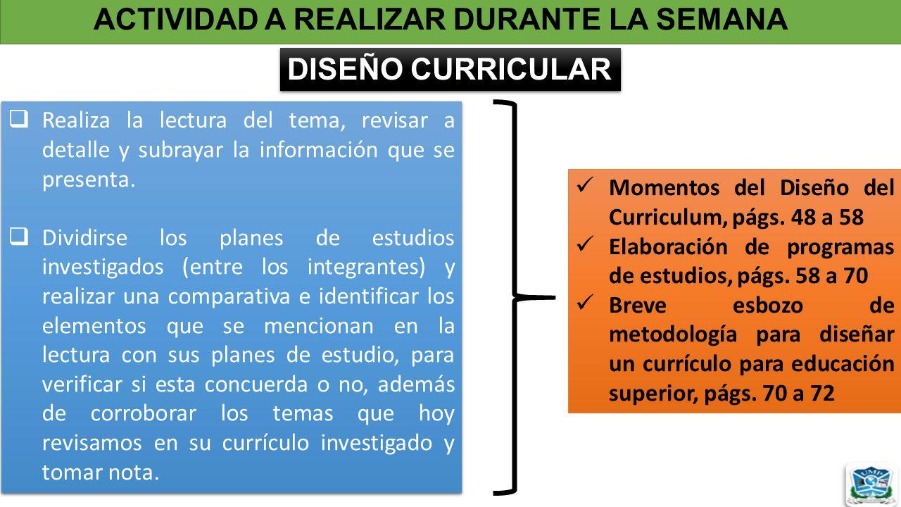 TEORÍA Y DISEÑO CURRICULAR I. - ppt descargar