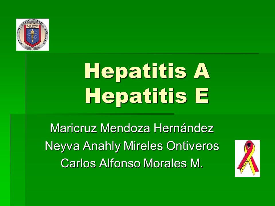 Hepatitis A Hepatitis E