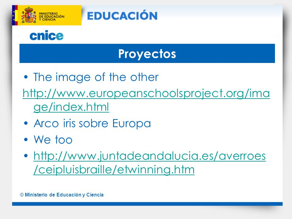 Proyectos The image of the other