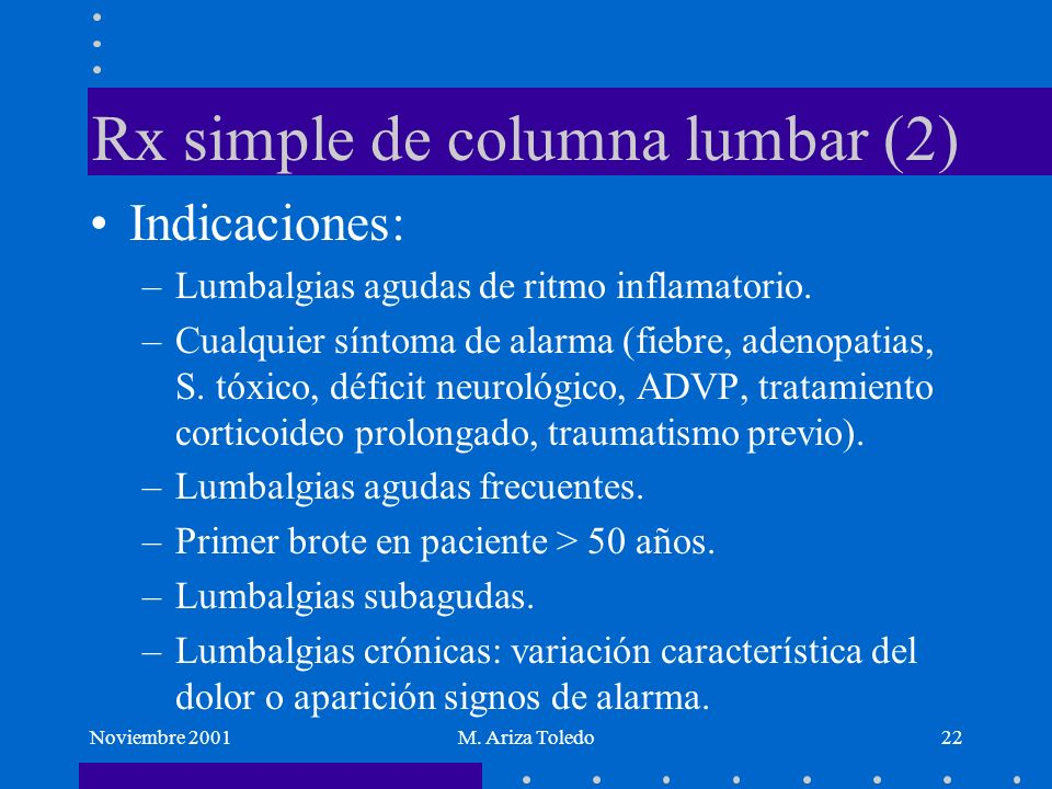 Rx simple de columna lumbar (2)