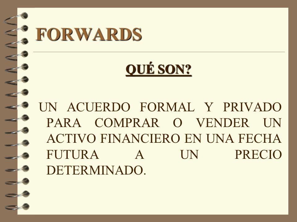 FORWARDS QUÉ SON.