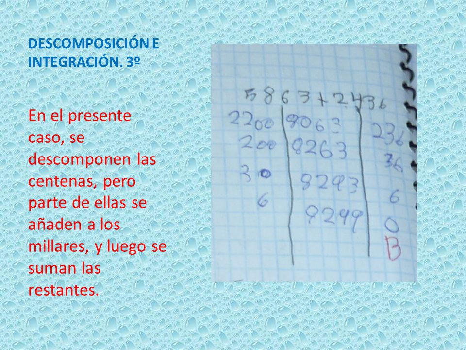 DESCOMPOSICIÓN E INTEGRACIÓN. 3º