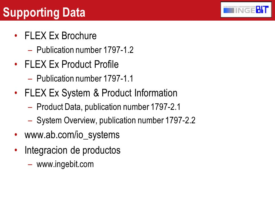 Supporting Data FLEX Ex Brochure FLEX Ex Product Profile
