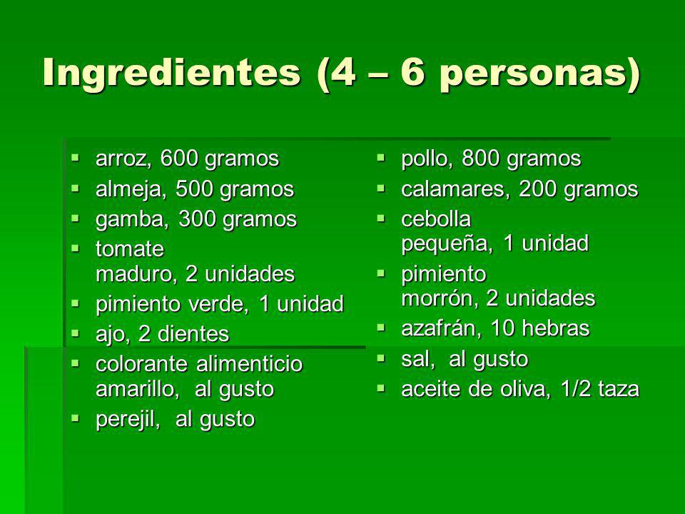 Ingredientes (4 – 6 personas)