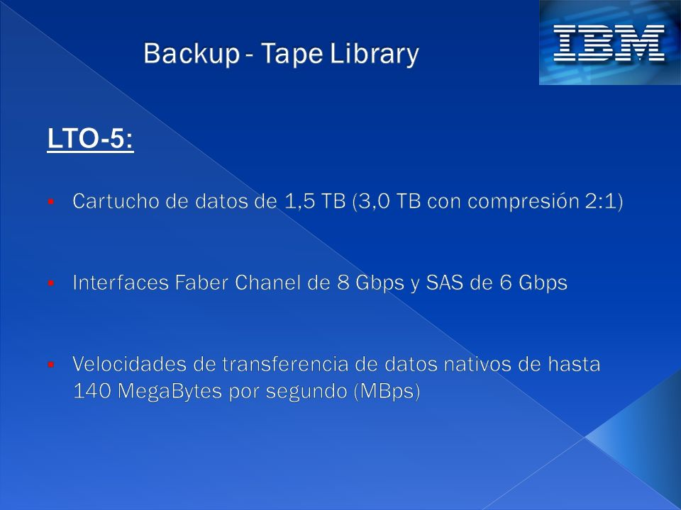 Backup - Tape Library LTO-5: