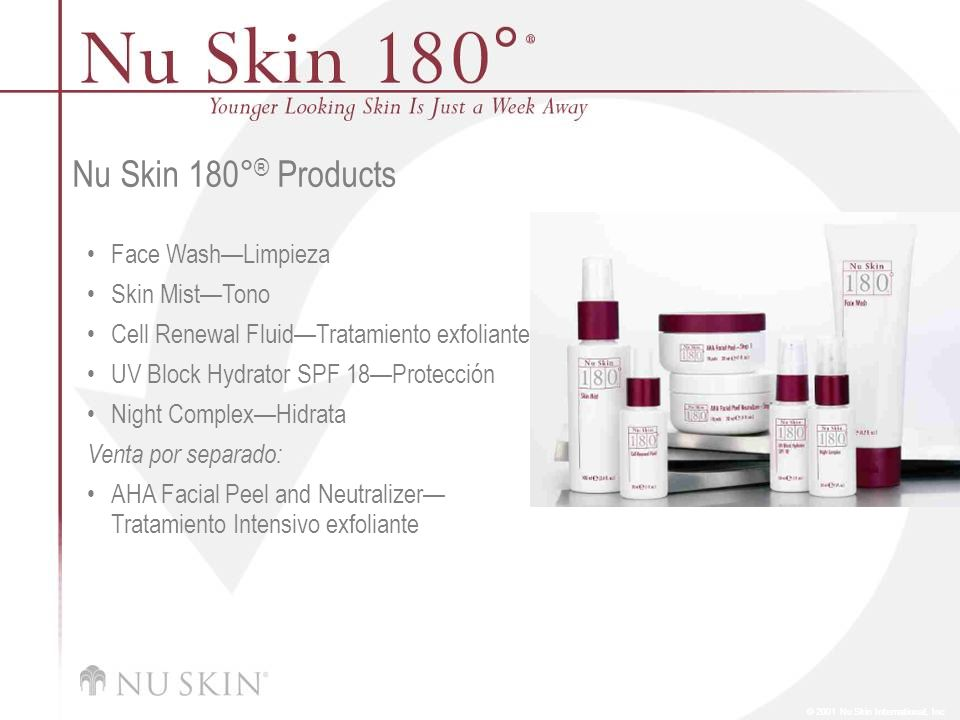 Nu Skin 180°® Products Face Wash—Limpieza Skin Mist—Tono