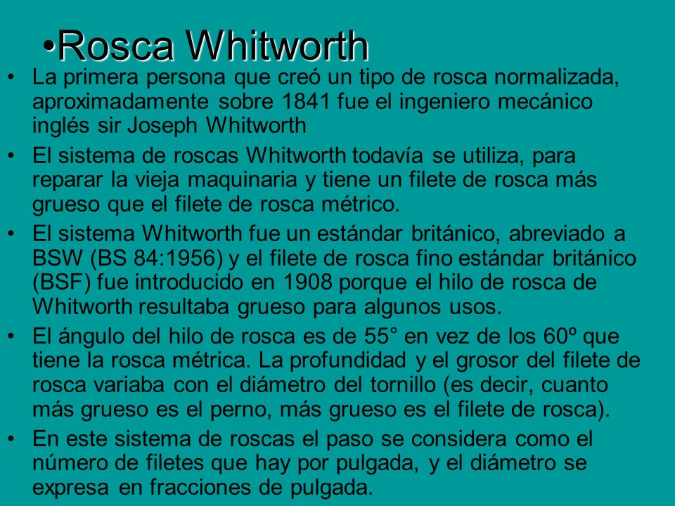 Rosca Whitworth