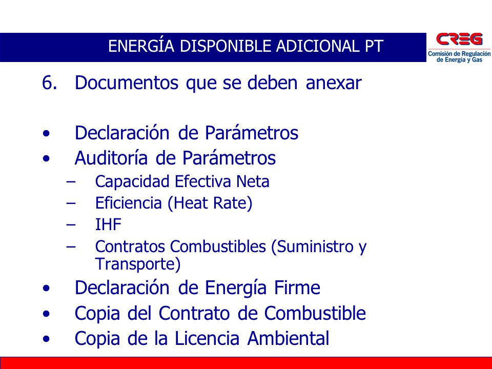 ENERGÍA DISPONIBLE ADICIONAL PT
