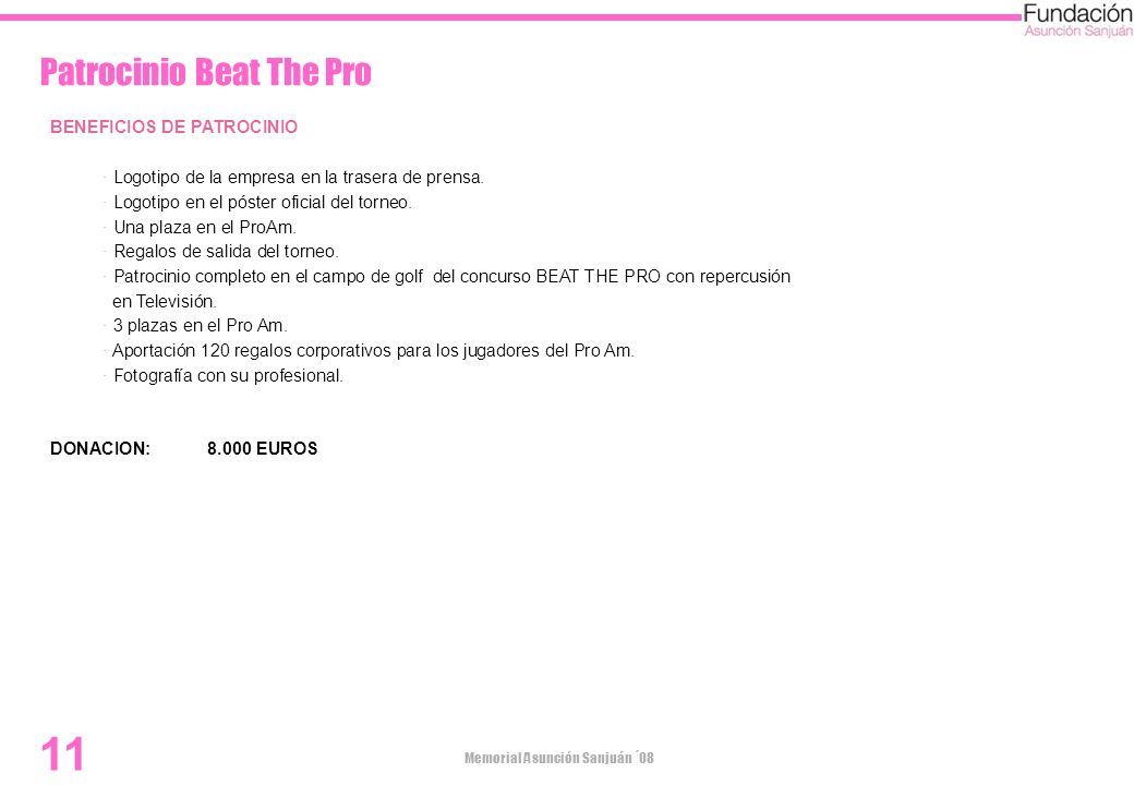 Patrocinio Beat The Pro