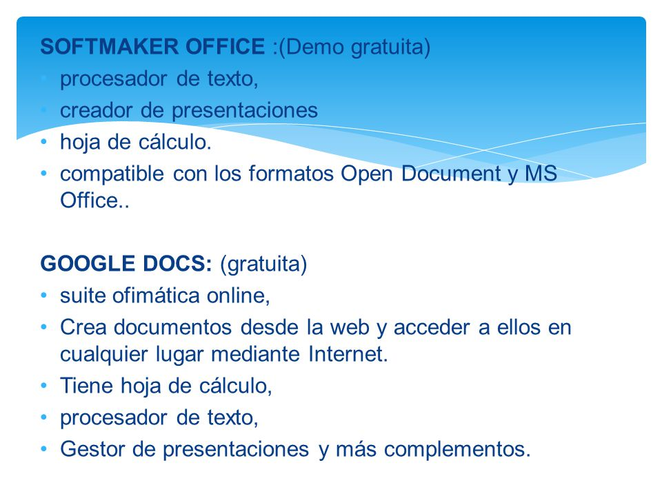 SOFTMAKER OFFICE :(Demo gratuita)