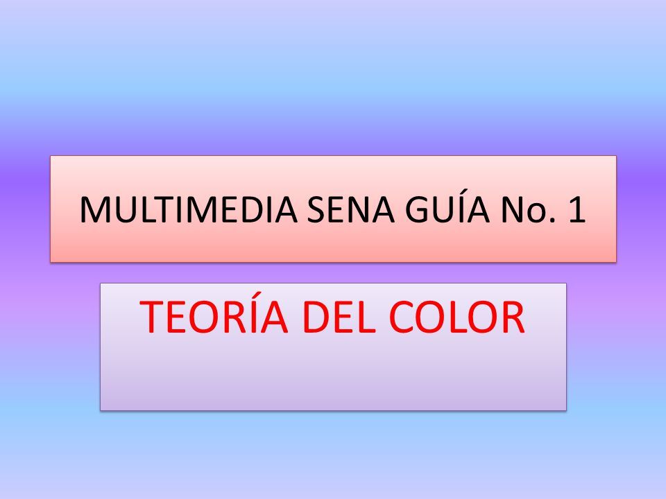 MULTIMEDIA SENA GUÍA No. 1