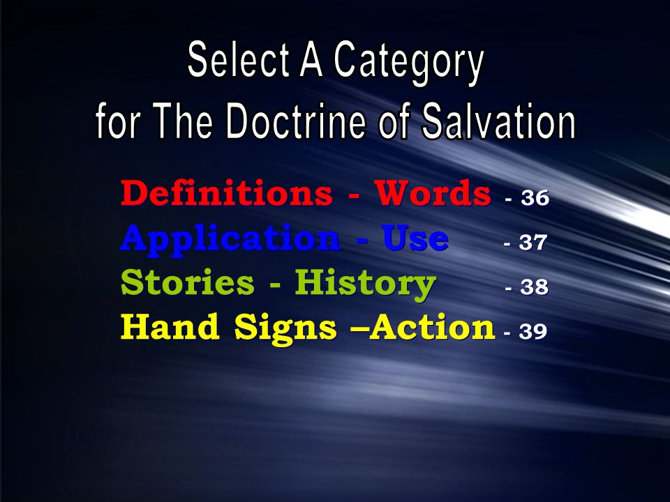 for The Doctrine of Salvation