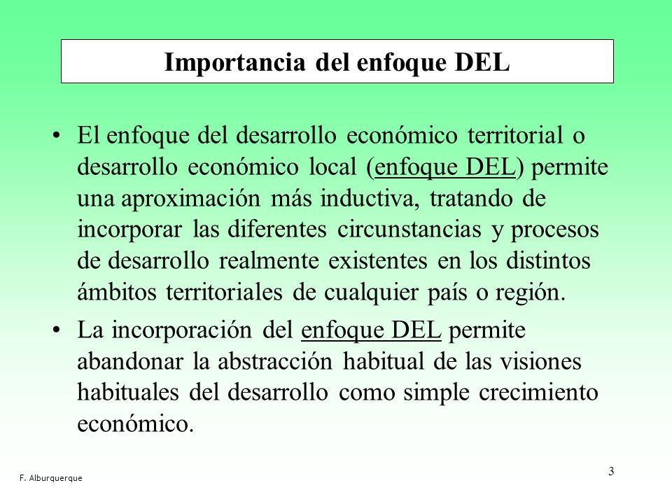 Importancia del enfoque DEL