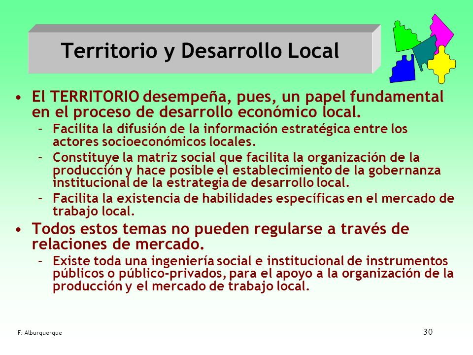 Territorio y Desarrollo Local