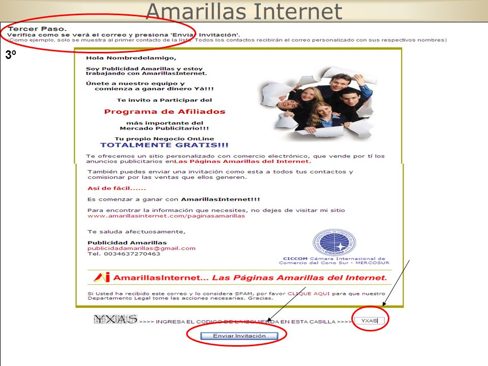 Amarillas Internet 3º