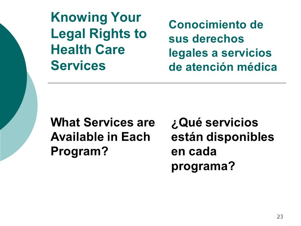 Knowing Your Legal Rights to Health Care Services