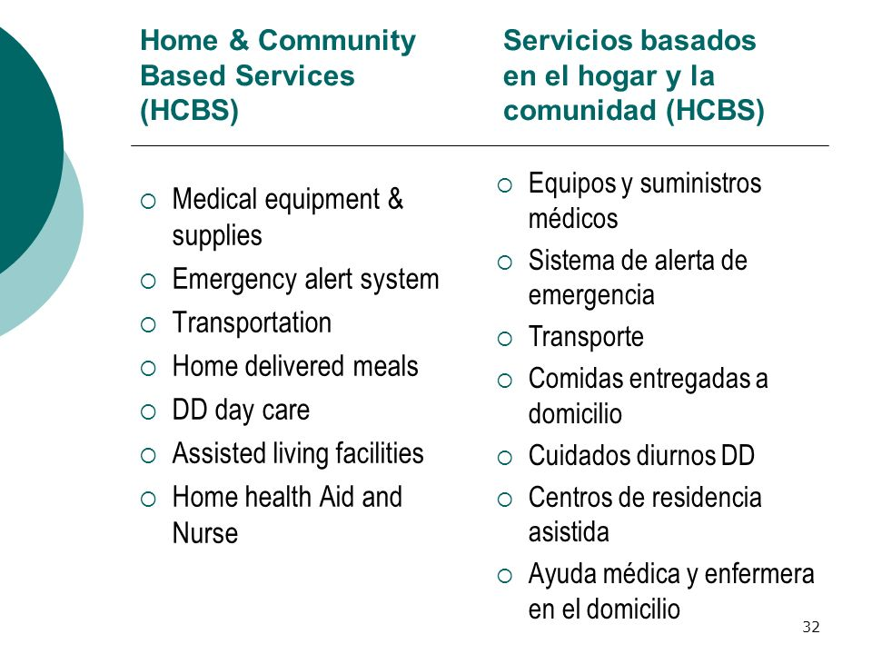 Home & Community Based Services (HCBS)