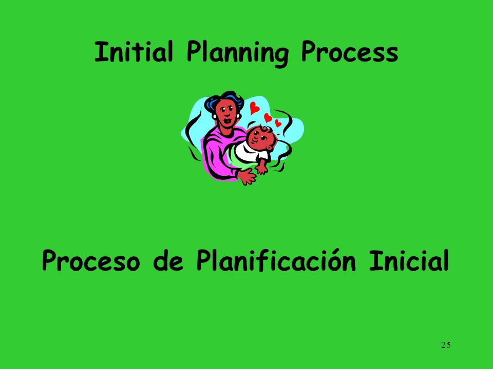Initial Planning Process