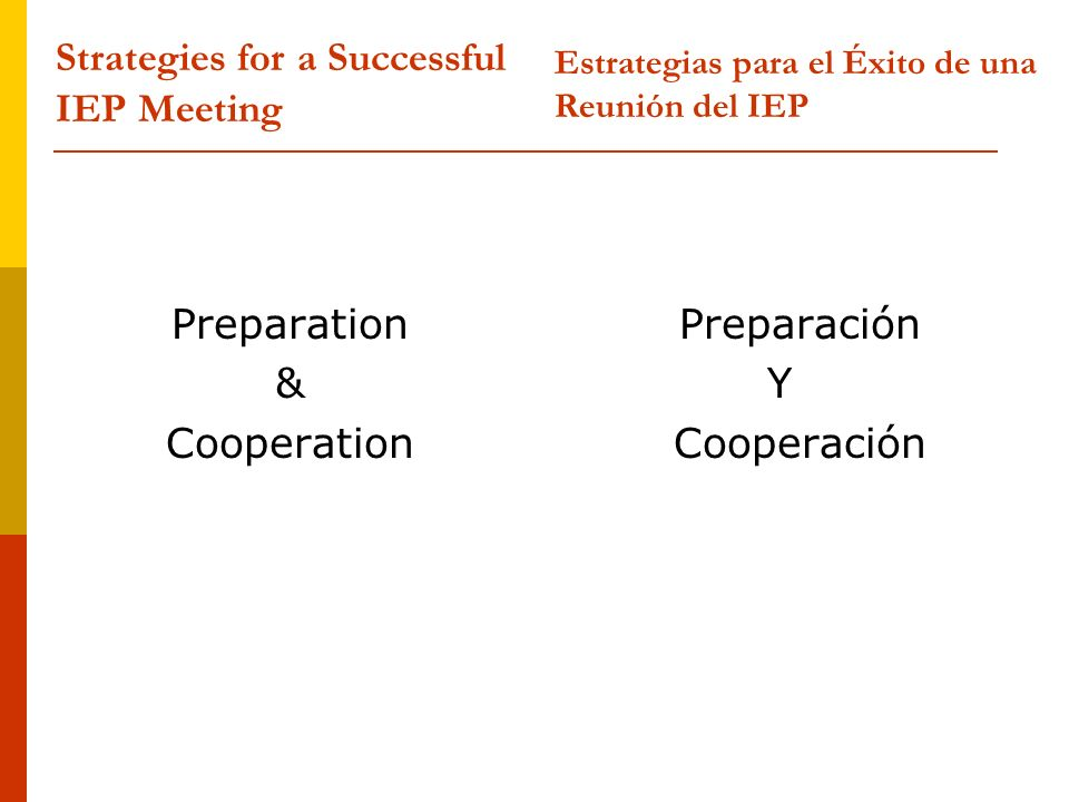Strategies for a Successful IEP Meeting