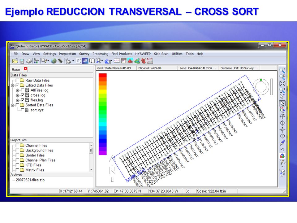Ejemplo REDUCCION TRANSVERSAL – CROSS SORT