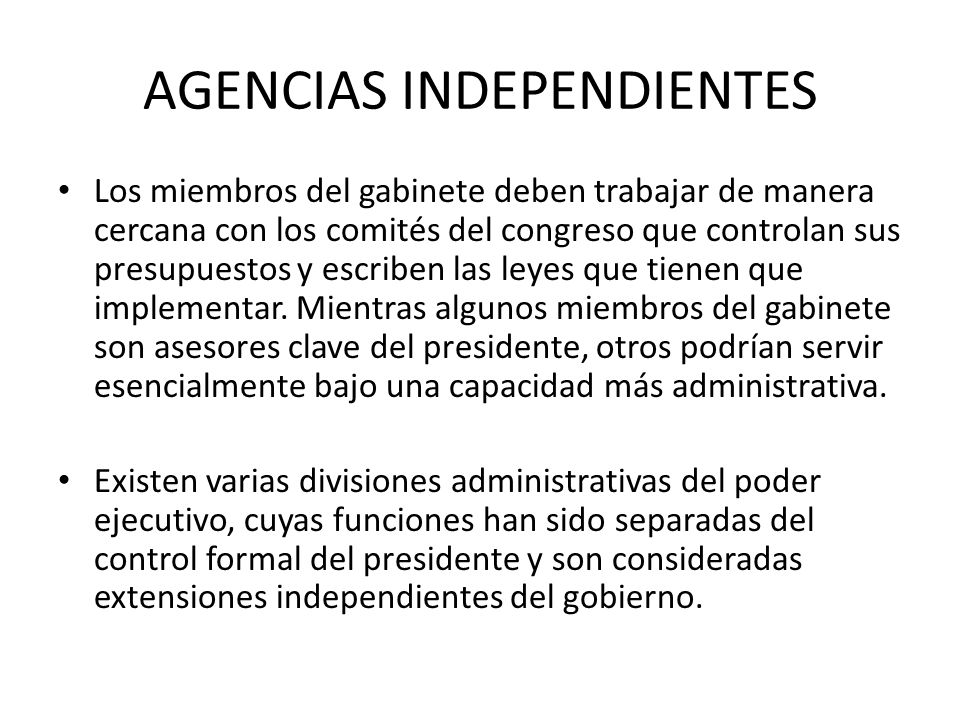 AGENCIAS INDEPENDIENTES