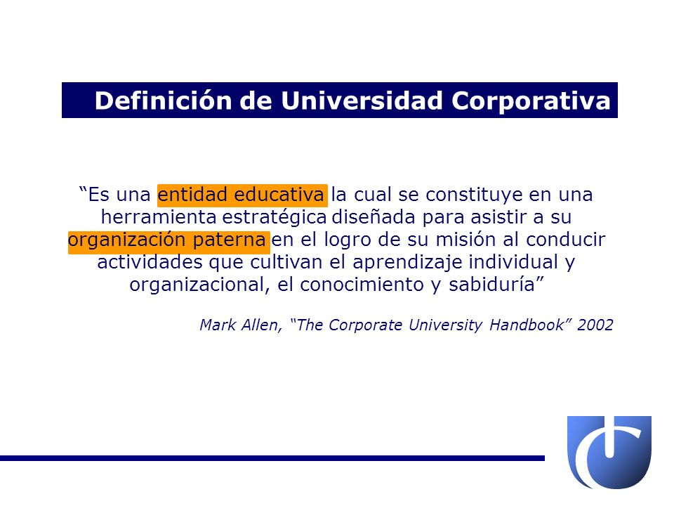 Definición de Universidad Corporativa