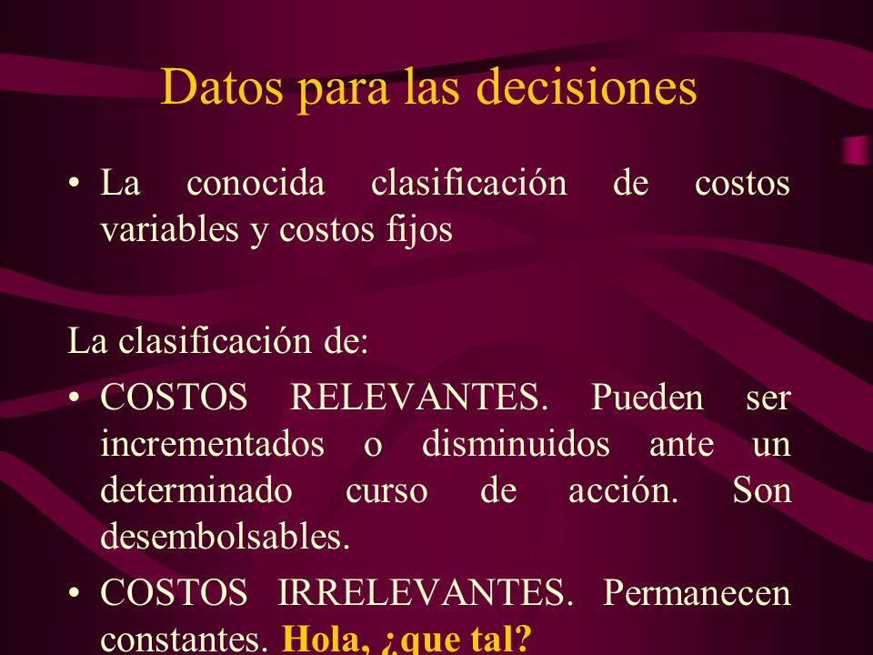 Datos para las decisiones