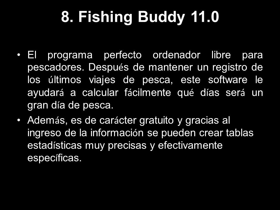8. Fishing Buddy 11.0