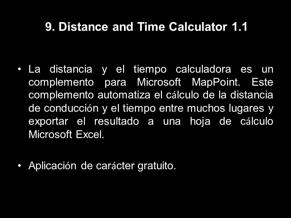 9. Distance and Time Calculator 1.1