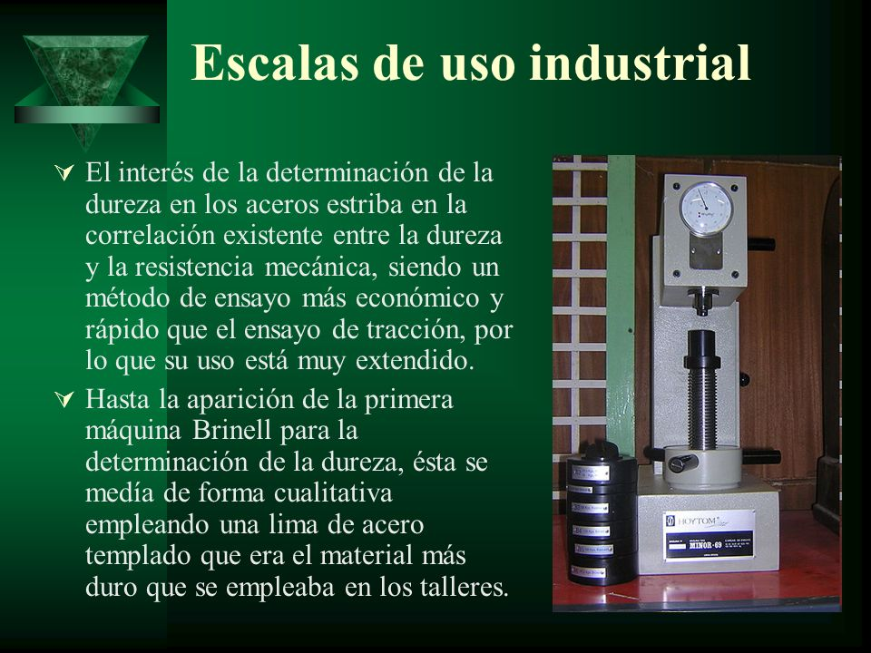 Escalas de uso industrial