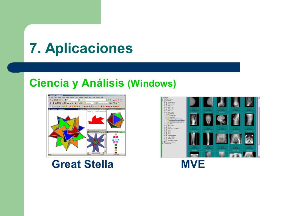 7. Aplicaciones Ciencia y Análisis (Windows) Great Stella MVE