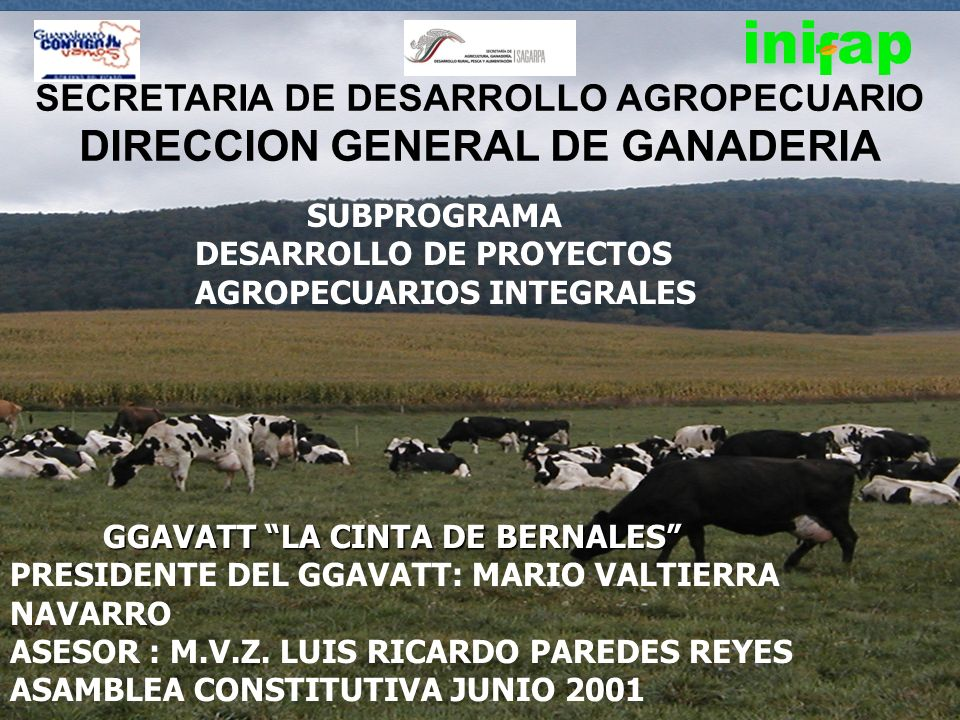 SECRETARIA DE DESARROLLO AGROPECUARIO DIRECCION GENERAL DE GANADERIA