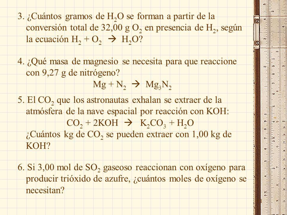 Cuntos Gramos De H2O Se Forman A Partir La Conversin Total