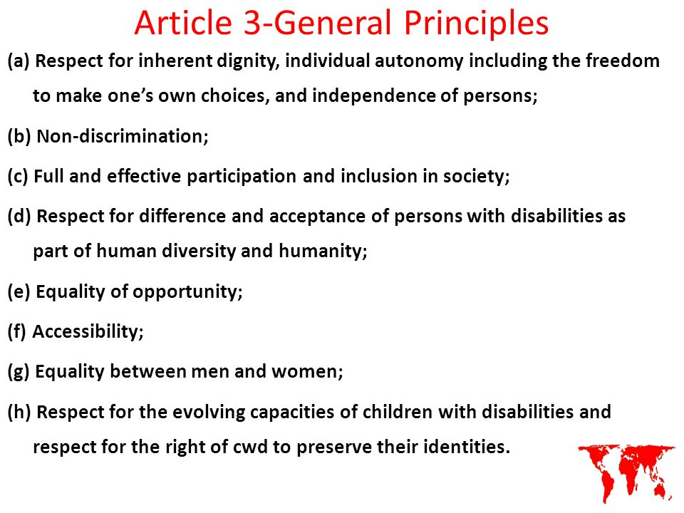 Article 3-General Principles
