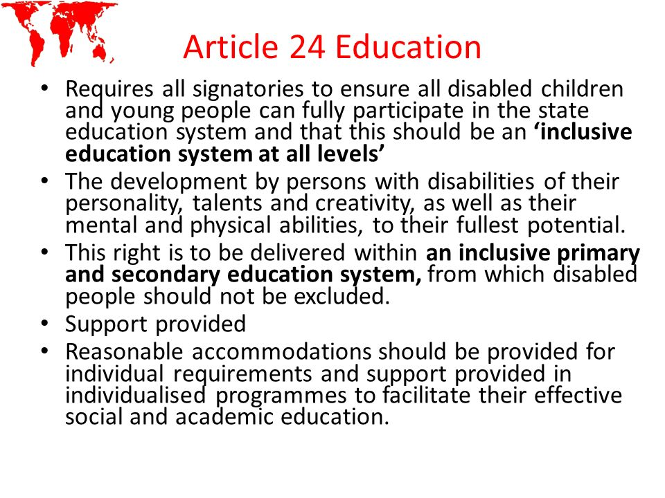 Article 24 Education